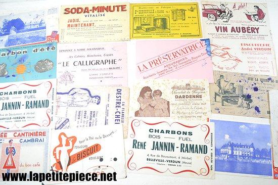 Lot buvards - Chicorée Black & Cie, SCOP, charbons Jannin-Ramand, Soda-minute...