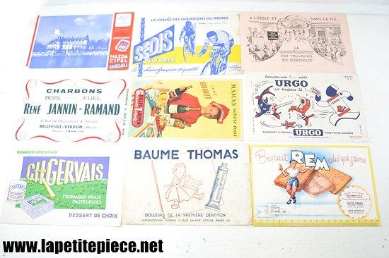 Lot buvards - REM, Urgo, Cipel, Charbons Jannin-Ramand, Goulet-Turpin, Sedis...