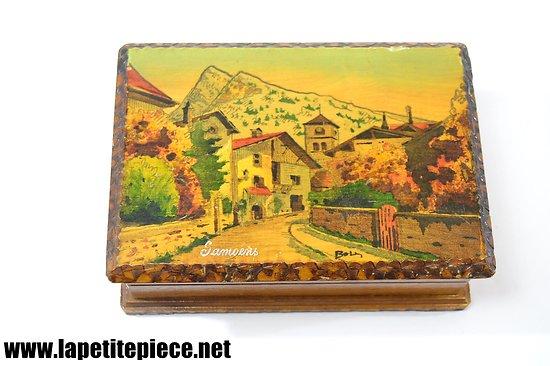 Coffret bois décoré Samoëns 'Haute-Savoie'