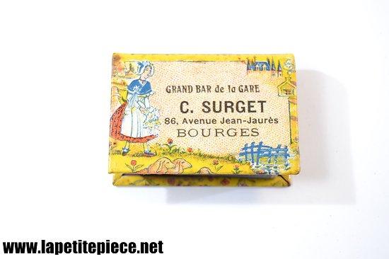Protège boite d'allumettes publicitaire - C. SURGET Bourges (Cher)