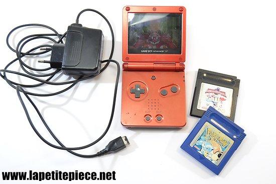 Game Boy Advance SP + jeux Sonic, bomberman quest, Pokemon bleu