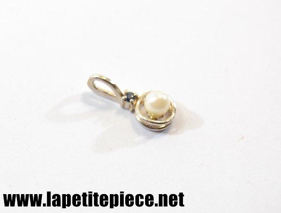 Pendentif argent 835 et perle