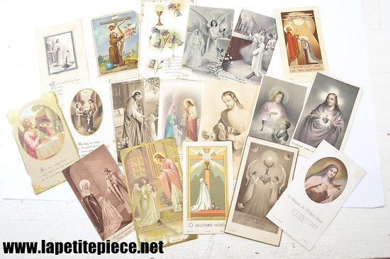 Lot images pieuses années 1939 - 1944