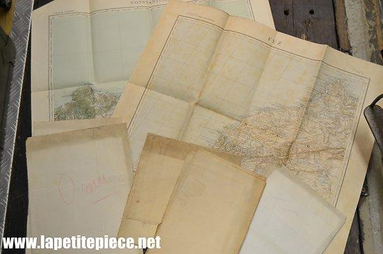 Lot de 6 cartes géographiques Afrique du Nord, MAROC