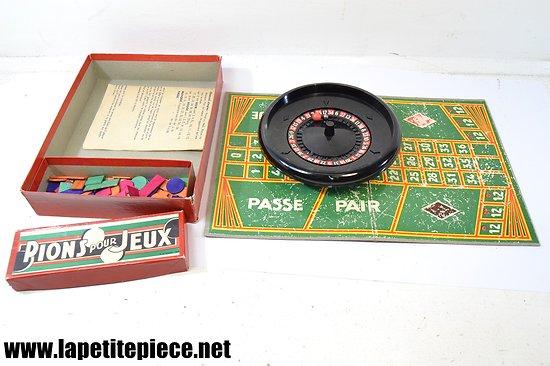 Jeu de roulette / casino années 1950 - 1960