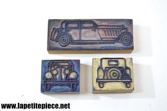 Trois tampons automobile années 1930 - 1950