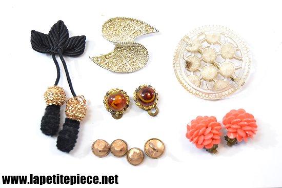 Lot de bijoux anciens, années 1950 - 1980.