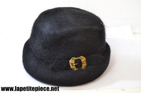 Chapeau femme années 1930 imitation fourrure