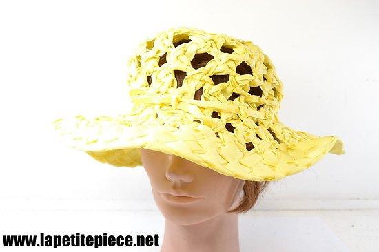 Chapeau femme années 1930 jaune
