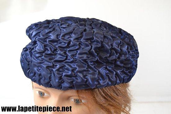 Chapeau femme années 1930 - bleu