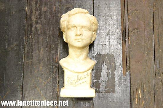 Buste en plâtre Arthur Rimbaud