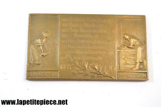 Médaille Gros Roman & Cie. Filature Wesserling Alsace 1765 - 1915