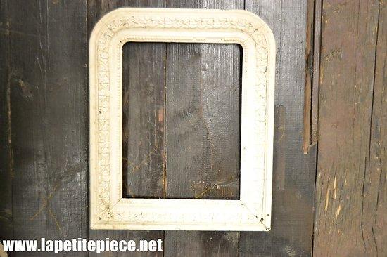 Cadre bois / plâtre blanc, fin 19e - début 20e Siècle