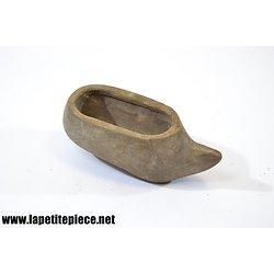 Sabot en bois miniature, fabrication artisanale début 20e Siècle.
