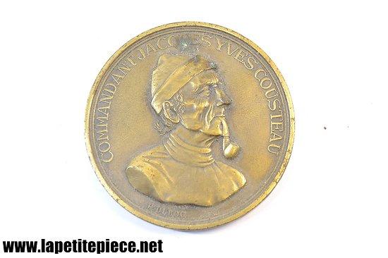 Médaille de table Commandant Jacques-Yves Cousteau par R. DUBOC
