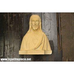 Buste Sacré Coeur - signé SB reproduction interdite