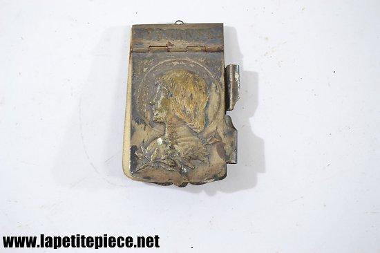 Petit carnet de bal en métal argenté Jeanne d'Arc