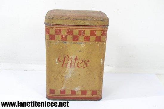 Boite à pâtes en tôle, années 1920 - 1930.