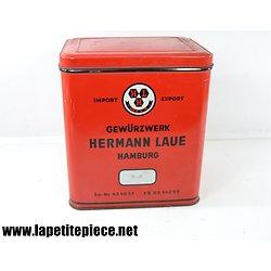 Boite Gewürzerk Hermann Laue Hamburg