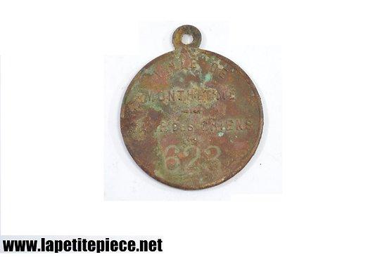 Médaille taxe des chiens, 19e Siècle Ville de Monthermé Ardennes