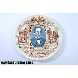Assiette Louis Pasteur - Sarreguemines