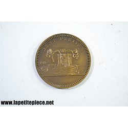 Médaille Foire de Paris 1958 - Souvenir d'une visite au stand de la monnaie