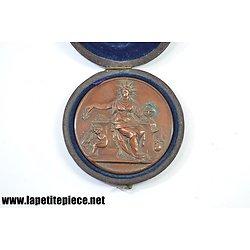 Médaille de cuivre signée Blondelet - Caisse des écoles du VII Arrondissement de Paris