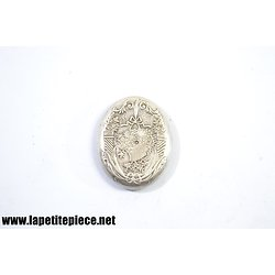 Fond de bijoux / broche argent massif 19e Siècle