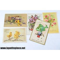 Cartes postales fantaisies années 1920 - 1930. 1er Avril...