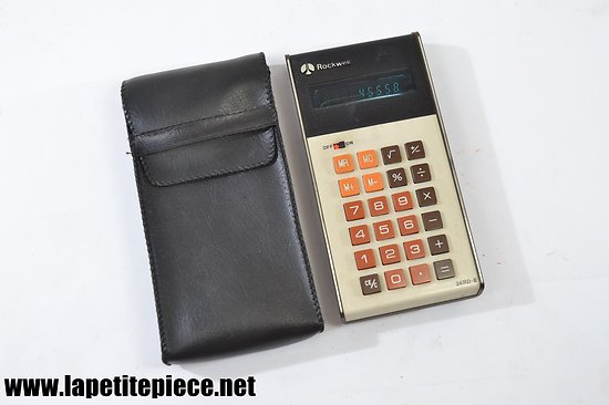 Calculatrice Rockwell 24 RD II années 1970