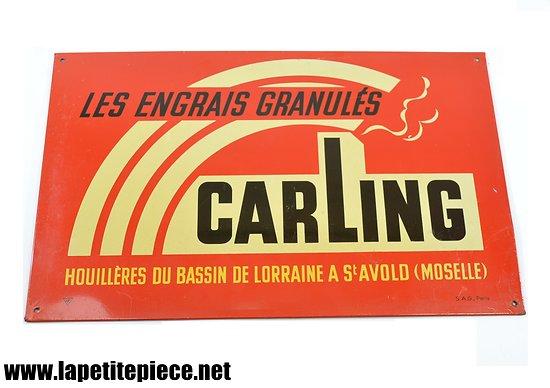 """Plaque litho """"Les engrais granulés Carling"""" St Avold Moselle"""