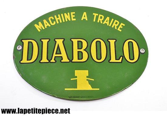 Plaque émaillée Machine à traire DIABOLO - Art-France Luyres