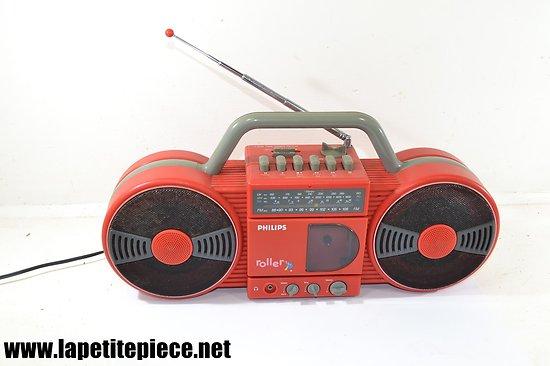 Philips Roller D8008 Radio cassette recorder. Années 1980