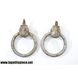 Paire de poignées - anneaux de maison, 19e Siècle