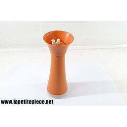 Sucrier Tupperware orange années 1960 - 1970. Sucre glace