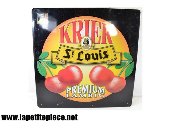 Plaque publicitaire KRIEK St LOUIS Premium Lambic (Belgique)