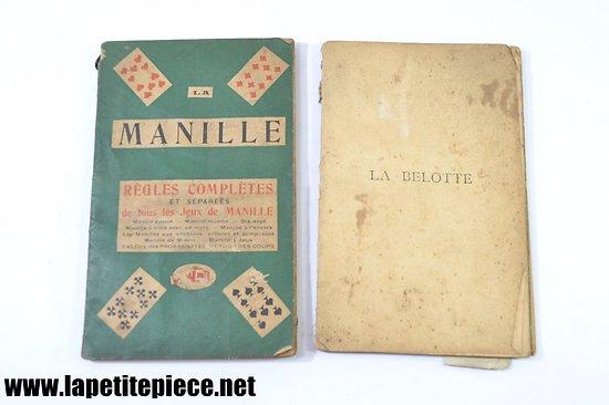 Livres règles complètes La Manille et La Belotte