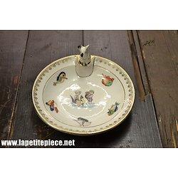 Assiette à bouillie en porcelaine S.I.P. France