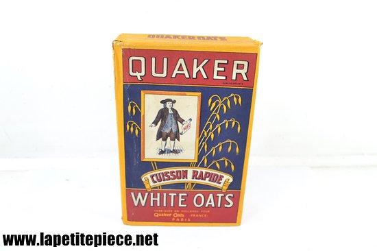 Boite vintage de Quaker White Oats