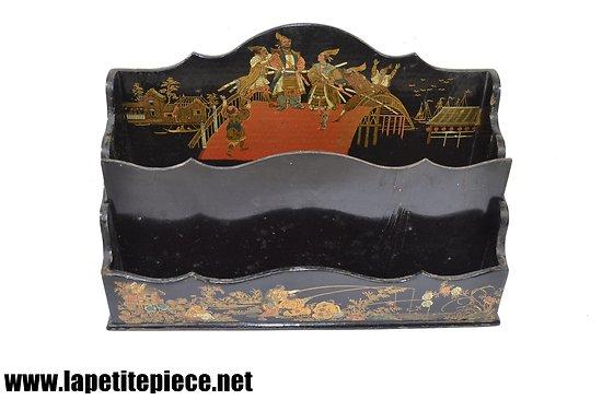 Porte document - range lettres Napoléon III décor asiatique