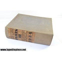Annuaire du commerce Didot Bottin PARIS volume III 1934