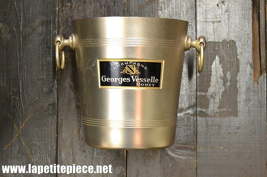 Seau à champagne Georges Vesselle à Bouzy. Aluminium Tournus