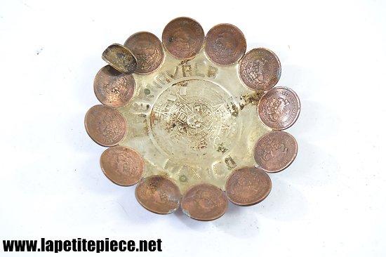 Cendrier Mexicain, artisanat locale avec monnaies