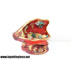 Coquillage lampe Vallauris rouge