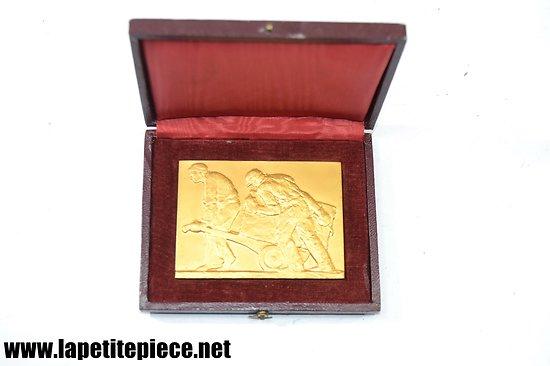 Médaille société des architectes de la marne, bronze. Signée Burger