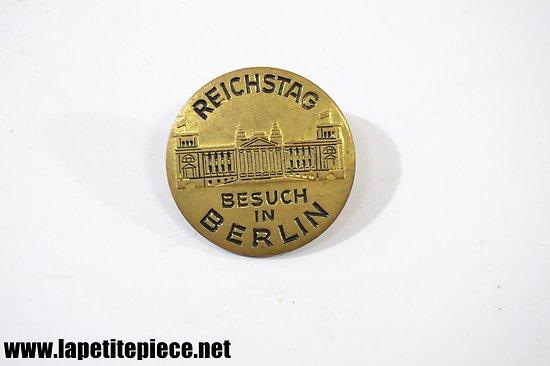 Badge souvenir du Reichstag Besuch in Berlin, années 1960