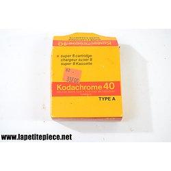 Cartouche Kodachrome 40 type A / Super 8 cartridge chargeur super 8 KMA 464 P