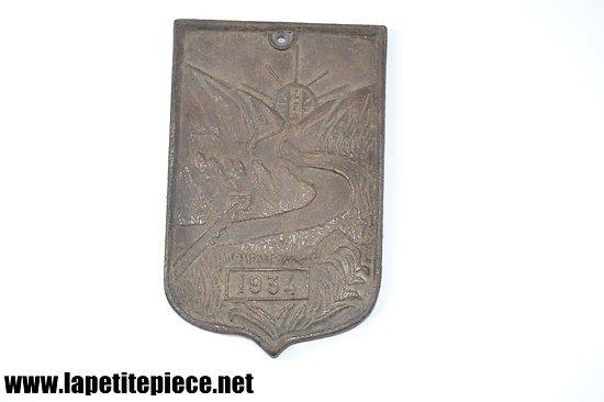 Plaque publicitaire LFA 1934 - La Fonte Ardennaise (Ardennes)