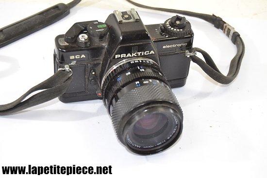 Appareil photo argentique Praktica BCA electronic avec objectif prakticar 1:3.5 4,8 f=35 70mm multi-coated macro