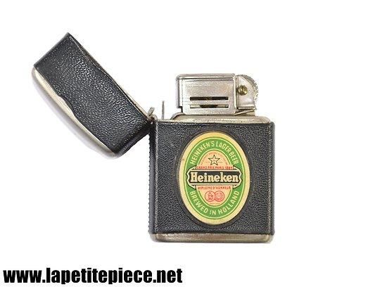Briquet publicitaire Heineken's lager beer Brewed in Hollland, Grand prix Paris 1889 Heineken diplome d'honneur